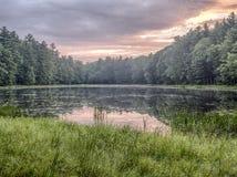 Silver Lake en Sullivan County Photo libre de droits