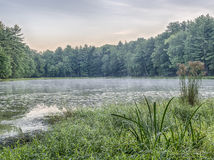 Silver Lake en Sullivan County Photographie stock