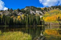Silver Lake jesieni kolor Zdjęcia Stock