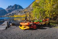 Silver Lake - kayaks Images stock