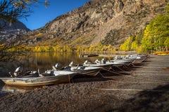 Silver Lake in Mammut-Kalifornien Stockbilder