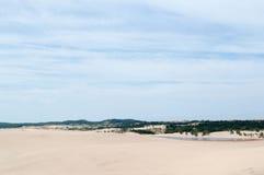 Silver Lake Michigan. Beach sand dunes Royalty Free Stock Image