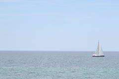 Silver Lake Michigan. Beach sand dunes salboat Stock Photography