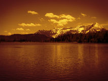 Silver Lake and Mountain Royalty Free Stock Photography
