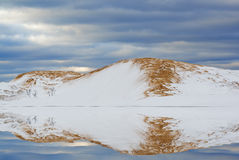 Silver Lake Sand Dunes Reflections Royalty Free Stock Photography