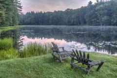 Silver Lake in Sullivan County Stock Foto