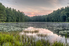 Silver Lake in Sullivan County Royalty Free Stock Photos