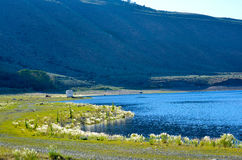 Silver Lake-Toevlucht in Juni-Meer Californië Stock Foto's