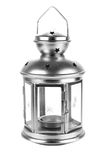 Silver Lantern Stock Photography