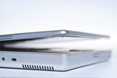 Silver laptop Royalty Free Stock Photography