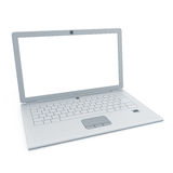 Silver laptop Stock Photography