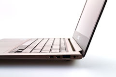 Silver Laptop stock photos