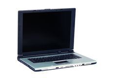 Silver laptop Royalty Free Stock Image