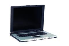 Silver laptop Royalty Free Stock Image