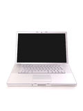 Silver laptop Royalty Free Stock Images