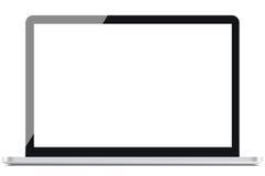 Silver Laptop Stock Image
