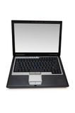Silver laptop isolated. On the white background Royalty Free Stock Image