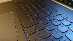 Silver Laptop keyboard Royalty Free Stock Photography