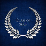 Silver laurel for class of 2015 Royalty Free Stock Image