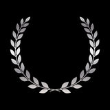 Silver laurel wreath icon 1 Stock Image