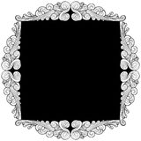 Silver Leaf Frame Stock Photos
