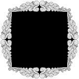 Silver Leaf Frame Stock Photos