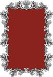 Silver Leaf Frame wtih Red Mirror Stock Photos