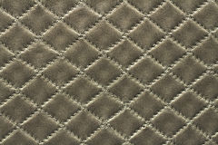 Silver leather background Stock Photos