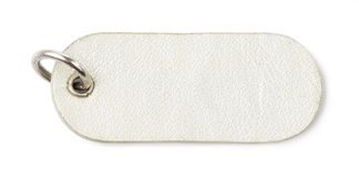 Silver Leather Tag Label Royalty Free Stock Photos