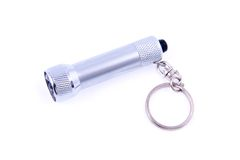 Silver led flashlight Royalty Free Stock Image