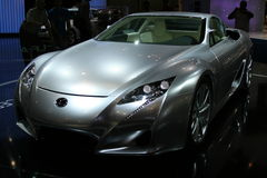 Silver lexus lf-a concept car Royalty Free Stock Photography