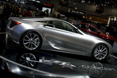 Silver lexus lf-a concept car Royalty Free Stock Photos