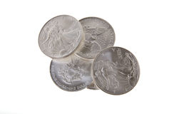 Silver Liberty Coins Royalty Free Stock Photo