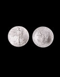 Silver Liberty Coins Stock Images