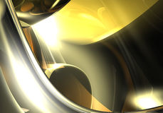 Silver in the light. A Study of Form&Colors, rendered in Bryce Stock Photos