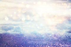 Silver and light blue glitter lights background. defocused. Silver and light blue glitter lights background. defocused Royalty Free Stock Image