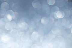 Silver Light Bokeh Background Stock Images