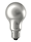 Silver lightbulb isolated on white Royalty Free Stock Image