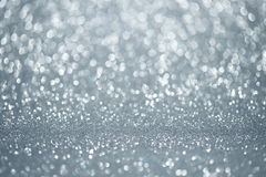 Silver lights background Stock Image