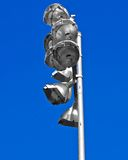 Silver lights blue sky Stock Photo
