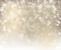 Silver Lights decorated with white bokeh snowflake and stars Christmas. Background stock images