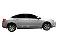 Silver limousine car Royalty Free Stock Image