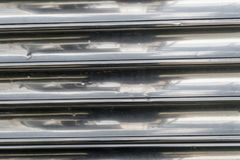 Silver lines old metal background texture Royalty Free Stock Photos