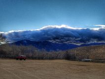 Silver Lining over Tahoe. Silver Lining at sunset over the Sierra Nevada mountains Stock Photo