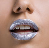 Silver lips Stock Image