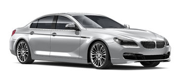 Silver luxury car Stock Images