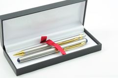 Silver luxury pen Royalty Free Stock Photo