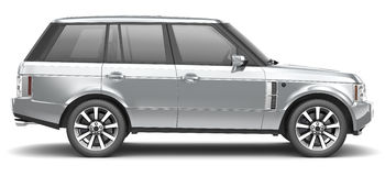 Silver luxury SUV Stock Photography