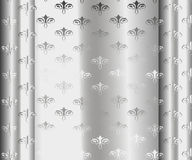 Silver Luxury Vintage Wallpaper Royalty Free Stock Image