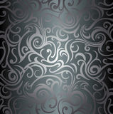 Silver luxury vintage wallpaper Royalty Free Stock Photos